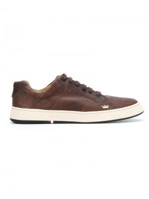 Кроссовки на шнуровке Osklen. Цвет: коричневый