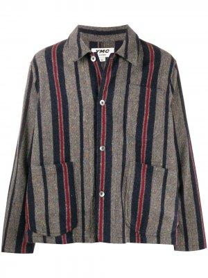 Куртка-рубашка в полоску YMC. Цвет: серый