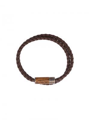 Браслет Montecarlo Wood Tateossian. Цвет: коричневый