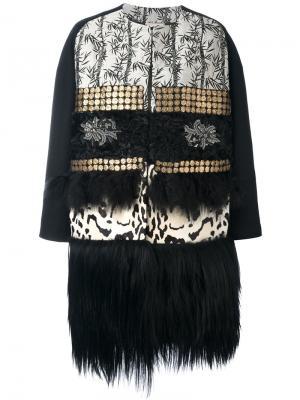 Пальто с узором Antonio Marras. Цвет: чёрный