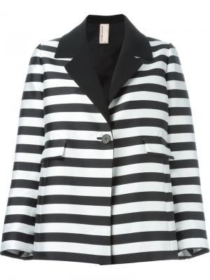 Полосатый пиджак Antonio Marras. Цвет: чёрный