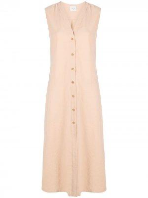 Платье на пуговицах Alysi. Цвет: нейтральные цвета