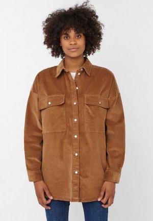Рубашка Noisy May. Цвет: коричневый