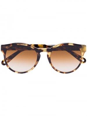 Солнцезащитные очки Havana черепаховой расцветки Chloé Eyewear. Цвет: коричневый