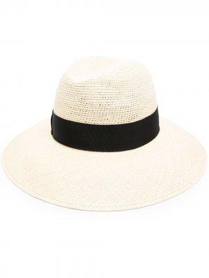 Шляпа с контрастной лентой Borsalino. Цвет: нейтральные цвета