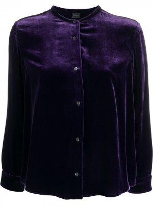 Бархатная рубашка Aspesi. Цвет: фиолетовый