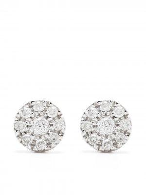 Серьги Target из белого золота с бриллиантами Djula. Цвет: серебристый