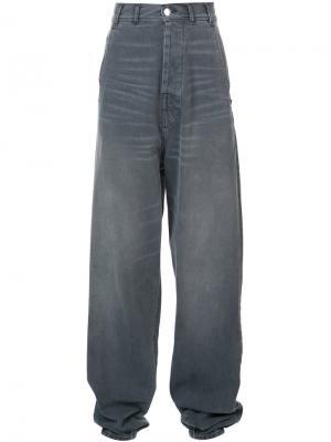 Длинные широкие джинсы Neith Nyer. Цвет: серый