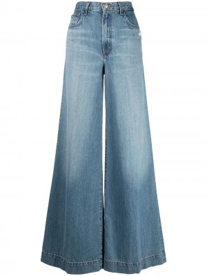 Расклешенные джинсы широкого кроя J Brand. Цвет: синий