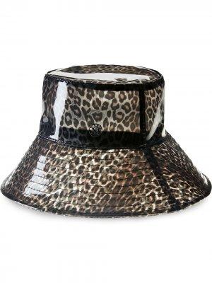 Шляпа Charlotte с леопардовым принтом Maison Michel. Цвет: нейтральные цвета