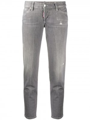 Укороченные джинсы скинни Dsquared2. Цвет: серый