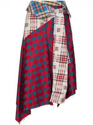 MarquesAlmeida юбка reM'Ade в технике пэчворк Marques'Almeida. Цвет: красный