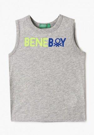 Майка United Colors of Benetton. Цвет: серый