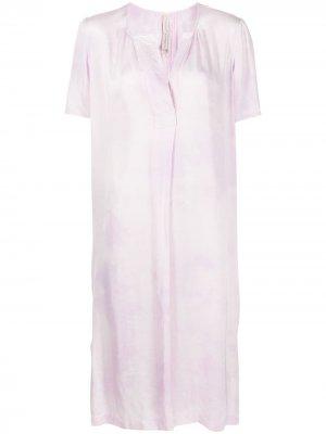 Платье с короткими рукавами и круглым вырезом Raquel Allegra. Цвет: фиолетовый