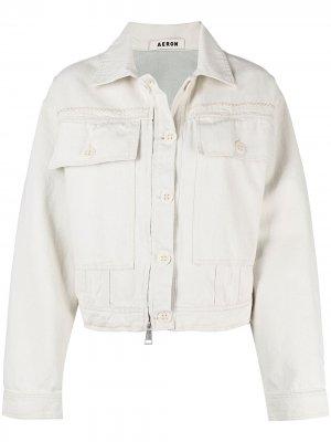 Джинсовая куртка Martha Aeron. Цвет: белый