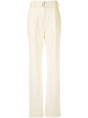 Широкие брюки с завышенной талией LAPOINTE. Цвет: белый