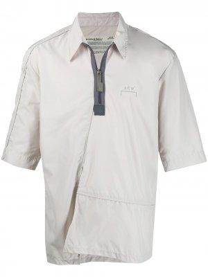 Рубашка с короткими рукавами и молнией A-COLD-WALL*. Цвет: серый