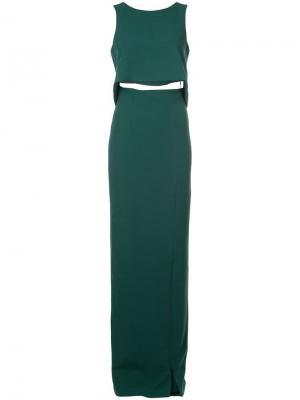 Платье макси Kacie Black Halo. Цвет: зеленый