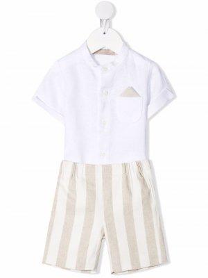 Комплект из рубашки и шортов La Stupenderia. Цвет: белый