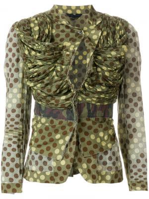Куртка с камуфляжным принтом в горох Comme Des Garçons Pre-Owned. Цвет: зеленый
