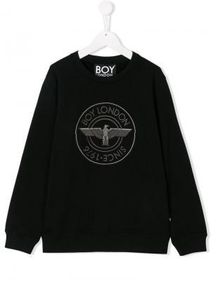 TEEN logo embroidered sweatshirt Boy London Kids. Цвет: черный