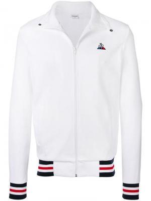 Спортивная куртка с полосками Le Coq Sportif. Цвет: белый