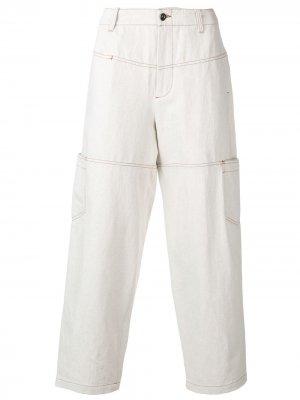 Широкие брюки с низкой посадкой Qasimi. Цвет: нейтральные цвета