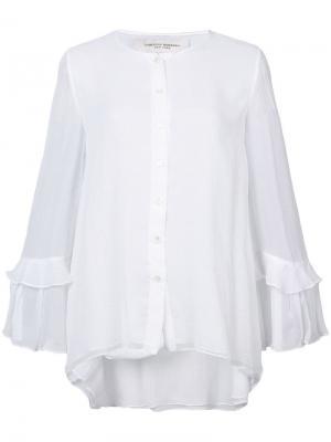 Блузка с рукавами оборками Carolina Herrera. Цвет: белый