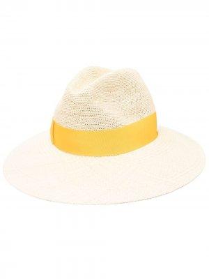 Шляпа-федора с лентой Borsalino. Цвет: нейтральные цвета