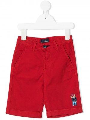 Шорты с нашивкой-логотипом Harmont & Blaine Junior. Цвет: красный