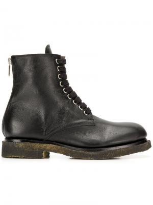 Ботинки с эффектом потертости Rocco P.. Цвет: черный