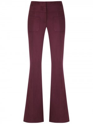 Расклешенные брюки узкого кроя Olympiah. Цвет: фиолетовый