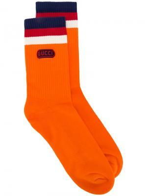 Носки с нашивкой  Game Gucci. Цвет: оранжевый