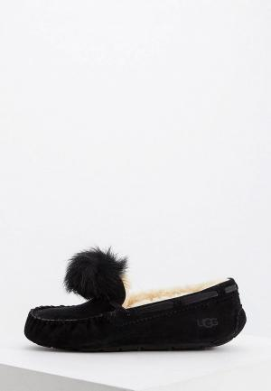 Мокасины UGG. Цвет: черный