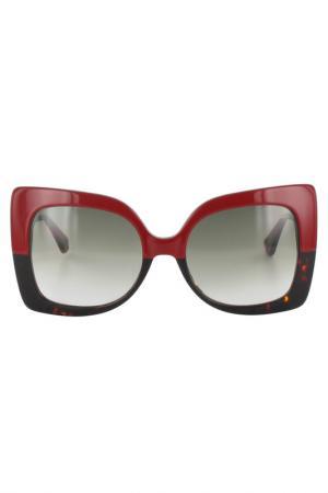 Очки солнцезащитные Byblos. Цвет: красный
