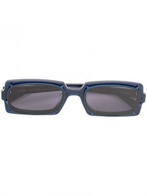 Солнцезащитные очки Turning в прямоугольной оправе Karen Walker. Цвет: синий