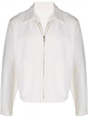 Куртка на молнии с логотипом в тон 1980-х годов Versace Pre-Owned. Цвет: белый