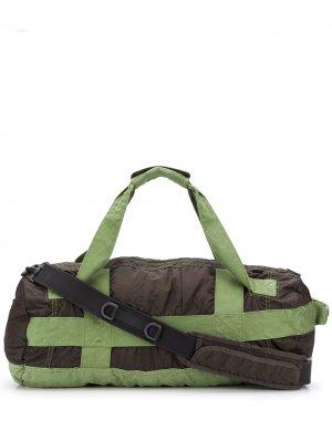 Большая дорожная сумка GD Stone Island Shadow Project. Цвет: зеленый