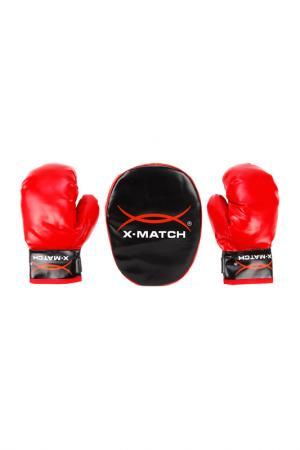 Набор для бокса X-MATCH. Цвет: красный