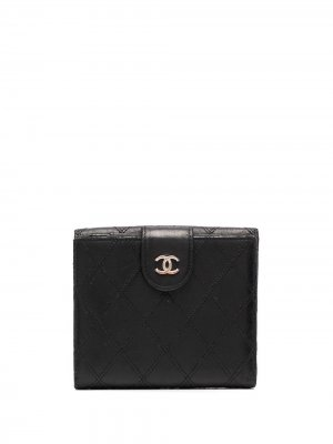 Стеганый бумажник Chanel Pre-Owned. Цвет: черный