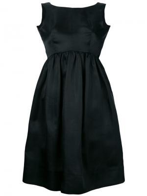 Платье со сборками без рукавов Balenciaga Vintage. Цвет: черный