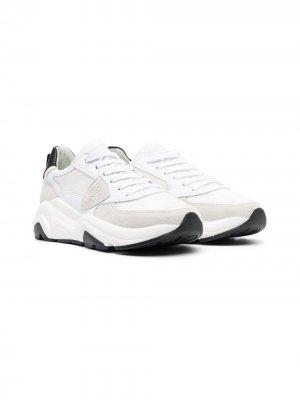Массивные кроссовки с логотипом Philippe Model Kids. Цвет: белый