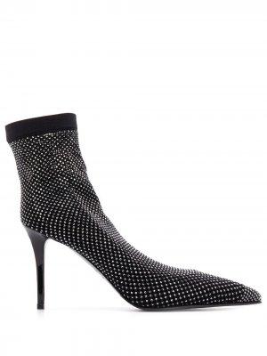 Декорированные туфли-носки Le Silla. Цвет: черный