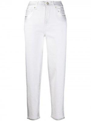 Укороченные джинсы Malia прямого кроя 7 For All Mankind. Цвет: белый