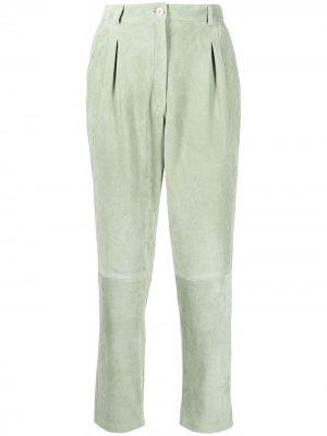 Зауженные брюки Etro. Цвет: зеленый