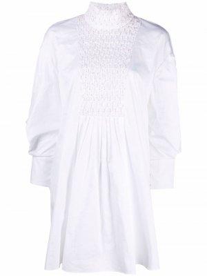 Платье-трапеция со сборками CAMILLA AND MARC. Цвет: белый
