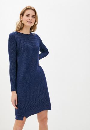 Платье Passioni. Цвет: синий