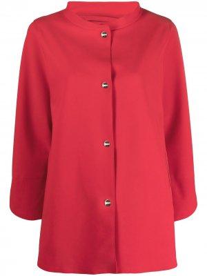 Куртка-рубашка с высоким воротником Herno. Цвет: красный