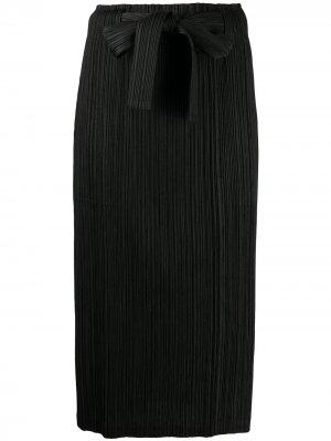 Плиссированная юбка с поясом Pleats Please Issey Miyake. Цвет: черный