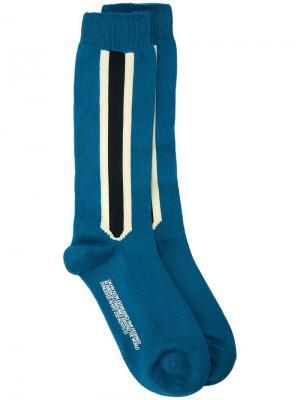 Носки с боковыми полосками Calvin Klein 205W39nyc. Цвет: синий
